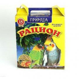 Рацион - Корм для средних попугаев, 1,5 кг