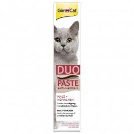 Gimсat (Джимкет) ANTI-HAIRBALL DUO PASTE (ВЫВЕДЕНИЕ ШЕРСТИ ПАСТА ВКУС СЫРА) лакомство  для кошек, 50 г
