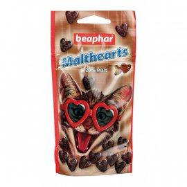 Beaphar MALTHEARTS Лакомство с мальт-пастой для кошек для вывода шерсти (сердечки), 150 шт.