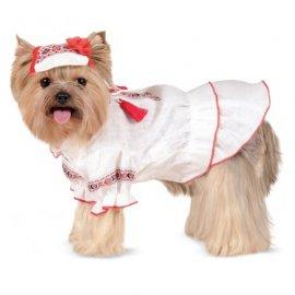 Pet Fashion Рубашка-вышиванка для собак женская МАРИЙКА