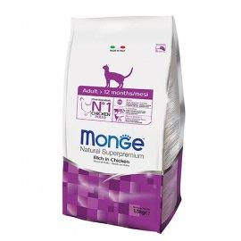 Monge ADULT сухой корм для кошек в возрасте от 1 года до 7 лет КУРИЦА и РИС