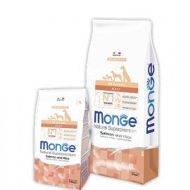 Monge ADULT SALMONE & RICE сухой корм для собак всех пород ЛОСОСЬ и РИС