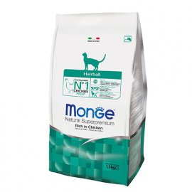 Monge HAIRBALL сухой корм для выведения шерсти у кошек КУРИЦА