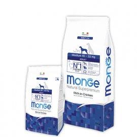 Monge MEDIUM ADULT CHICKEN & RICE сухой корм для взрослых собак средних пород КУРИЦА и РИС
