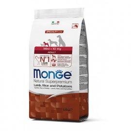 Monge MINI ADULT LAMB, RICE & POTATOES сухой корм для собак мелких пород ЯГНЕНОК & РИС и КАРТОФЕЛЬ, 2,5 кг