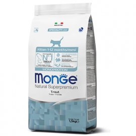 Monge MONOPROTEIN KITTEN сухой корм для котят ФОРЕЛЬ