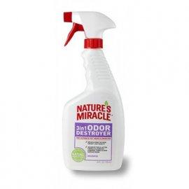 Natures Miracle 3in1 ODOR DESTROYER UNSCENTED Уничтожитель запаха БЕЗ АРОМАТА спрей, 710 мл