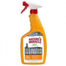 Natures Miracle (Нейчерлз Миракл) SET-IN STAIN DESTROYER уничтожитель пятен и запаха для кошек (цитрус) спрей для поверхностей