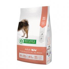 Natures Protection (Нейчез Протекшин) ADULT (ЭДАЛТ КУРИЦА И РИС) корм для взрослых собак средних и малых пород от 12 месяцев