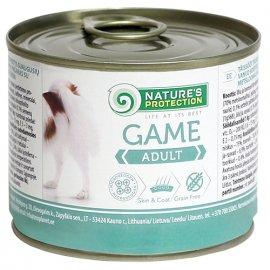 Natures Protection (Нейчез Протекшин) ADULT GAME (ЭДАЛТ ДИЧЬ) консерва для собак