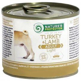 Natures Protection (Нейчез Протекшин) ADULT LIGHT TURKEY & LAMB (ЭДАЛТ ЛАЙТ ЯГНЕНОК И ИНДЕЙКА) консерва для малоподвижных и склонных к полноте собак