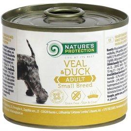 Natures Protection (Нейчез Протекшин) ADULT SMALL BREED VEAL & DUCK (СМОЛЛ БРИД ТЕЛЯТИНА И УТКА) консерва для взрослых собак малых пород