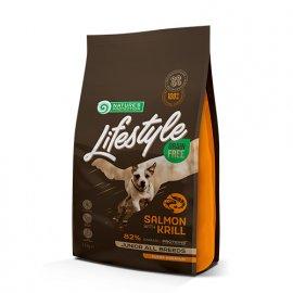 Natures Protection Lifestyle GRAIN FREE JUNIOR SALMON & KRILL корм для щенков от 3 до 12 месяцев ЛОСОСЬ и КРИЛЬ