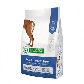 Natures Protection (Нейчез Протекшин) MAXI JUNIOR (МАКСИ ЮНИОРЫ КУРИЦА И РИС) корм для для молодых собак крупных пород от 2 до 12 месяцев