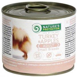 Natures Protection (Нейчез Протекшин) SMALL BREEDS TURKEY & APPLES (СМОЛЛ БРИД ИНДЕЙКА И ЯБЛОКИ) консерва для взрослых собак малых пород