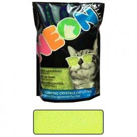 Neon Litter (Неон Литтер) CLUMP НЕОН (КЛАМП НЕОН) комкующийся кварцевый наполнитель, неоновый зеленый, 1.81 кг (4 л)