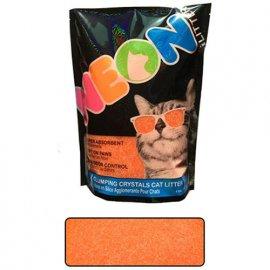 Neon Litter (Неон Литтер) CLUMP НЕОН (КЛАМП НЕОН) комкующийся кварцевый наполнитель, неоновый оранжевый, 1.81 кг (4 л)