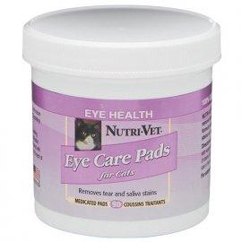 Nutri-Vet (Нутри-Вет) ОЧИСТКА ПЯТЕН влажные салфетки для удаления пятен от слез и слюны для котов, 90 шт