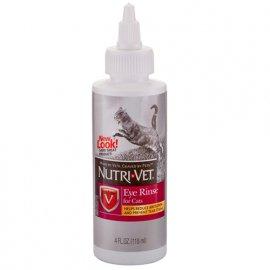 Nutri-Vet (Нутри-Вет) Eye Rinse - ЧИСТЫЕ ГЛАЗА глазные капли для кошек, 118 мл