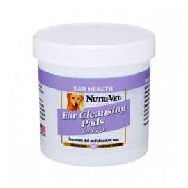 Nutri-Vet (Нутри-Вет) EAR CLEANSING - Влажные салфетки для собак для гигиены ушей, 90 шт