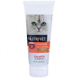 Nutri-Vet (Нутри Вет) Hairball Salmon flavor ВЫВЕДЕНИЕ ШЕРСТИ ГЕЛЬ С ЛОСОСЕМ, добавка для котов, 89 мл
