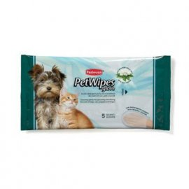 Padovan (Падован) PET WIPES SILK PROTEIN GLOVE (ПРОТЕИН ШЕЛКА) перчатки для ухода за шерстью собак и кошек, 5 шт