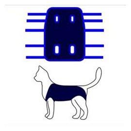 Collar Послеоперационная попона для кошек, синяя (677)