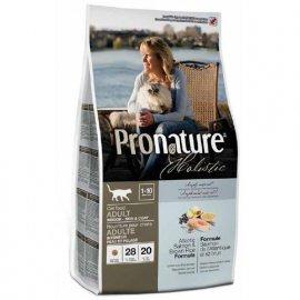 Pronature Holistic (Пронатюр Холистик) АТЛАНТИЧЕСКИЙ ЛОСОСЬ С КОРИЧНЕВЫМ РИСОМ корм для кошек