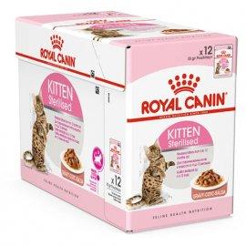 Royal Canin KITTEN STERILISED влажный корм для стерилизованных котят от 6 до 12 месяцев (кусочки в соусе)