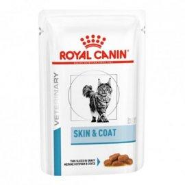 Royal Canin SKIN & COAT лечебные консервы для кошек для поддержания здоровья кожи и шерсти (кусочки в соусе)
