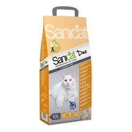 Saniсat (Саникет) Clumping Duo - комкующийся наполнитель для кошачьих туалетов с ароматом ванили и мандарина, 10 л