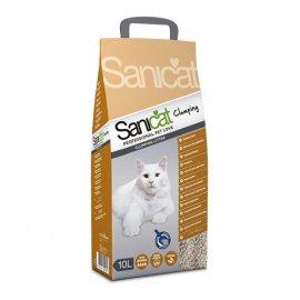 Saniсat (Саникет) Professional Clumping - комкующийся наполнитель для кошачьих туалетов, 10 л