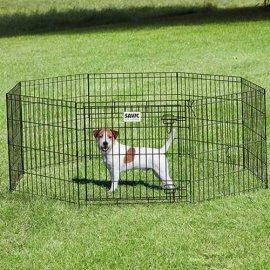 Savic ДОГ ПАРК (Dog Park) вольер для щенков, цинк черный, 8 панелей