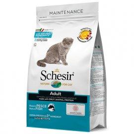 Schesir ADULT FISH сухой монопротеиновый корм для котов РЫБА