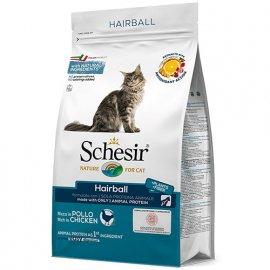 Schesir HAIRBALL сухой монопротеиновый корм для котов с длинной шерстью КУРИЦА