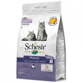 Schesir MATURE сухой монопротеиновый корм для пожилых котов КУРИЦА