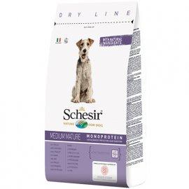 Schesir MEDIUM MATURE сухой монопротеиновый корм для пожилых собак средних пород КУРИЦА