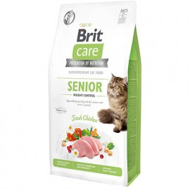 Brit Care GF SENIOR WEIGHT CONTROL беззерновой корм для взрослых кошек с лишним весом (курица)