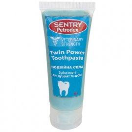 SENTRY Petrodex ДВОЙНАЯ СИЛА (Twin Power) отбеливающая зубная паста для собак 30 г