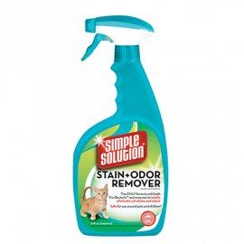 Simple Solution Cat stain and odor remover - средство для нейтрализации запахов и удаления пятен, с про-бактериями и энзимами, 945 мл