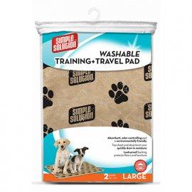 Simple Solution WASHABLE TRAINING & TRAVEL PADS пеленки многоразовые для собак, 2 шт