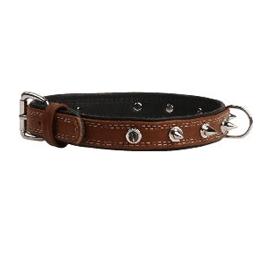 Collar SOFT - кожаный ошейник с шипами для собак