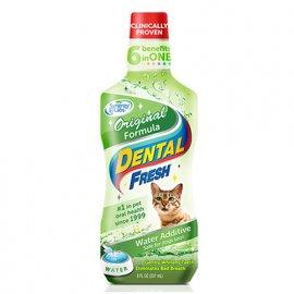SynergyLabs (СинерджиЛабс) DENTAL FRESH CAT (СВЕЖЕСТЬ ЗУБОВ) жидкость от зубного налета и запаха из пасти кошек, 237 мл