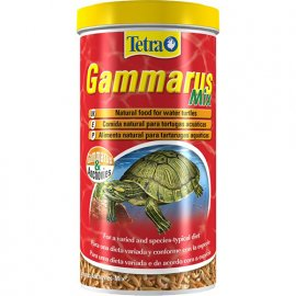 Tetra (Тетра) GAMMARUS MIX (ГАММАРУС И АНЧОУС МИКС СУШЕННЫЙ) корм для черепах, 25 г (250 мл)