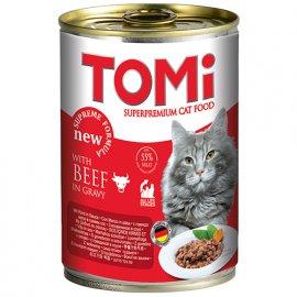 TOMi BEEF консервы для кошек - кусочки в соусе ГОВЯДИНА