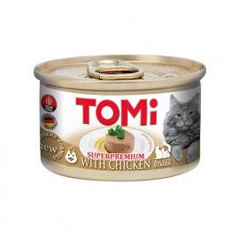 Tomi CHICKEN консервы для кошек, мусс КУРИЦА