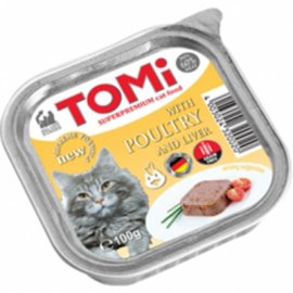 TOMi Poultry+Liver консервы для кошек - паштет, птица и печень
