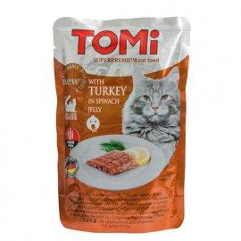 Tomi (Томи) TURKEY IN SPINACH JELLY (ИНДЕЙКА В ШПИНАТНОМ ЖЕЛЕ) консервы для кошек, пауч
