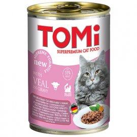 Tomi VEAL консервы для кошек - кусочки в соусе ТЕЛЯТИНА