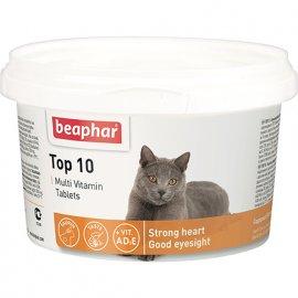 Beaphar TOP 10 - мультивитамины для кошек с таурином, 180 табл.